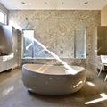 Baño con cubierta de granito