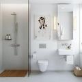 Baño pequeño minimalista