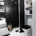 baño retro en blanco y negro