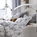 Respaldo de cama con lámpara de escritorio