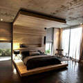 dormitorio con cabezal