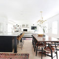 cocina abierta con remodelacion