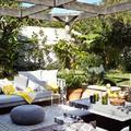 Terraza con comedor-living