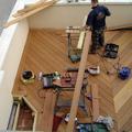 Construcción decking.