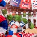 decoración guirnaldas chilenas