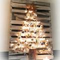 árbol de navidad diy en un palé