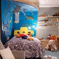 Pieza infantil con paredes en relieve