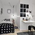 Dormitorio con escritorio en hall