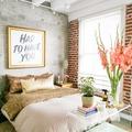 Decoración con plantas en dormitorio