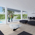 Interior living comedor