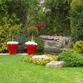 jardín con lago