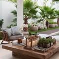 mesa jardín con flores y velas