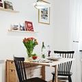 Mesa plegable en comedor