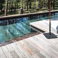 piscina con fondo movil