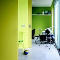 Paredes pintadas en colores fluorescentes