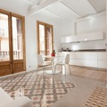 Living, comedor y cocina en un único espacio