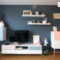 Living con mueble de televisión