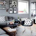 Living en gris y blanco