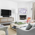 Living moderno en departamento remodelado
