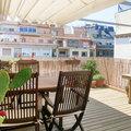 terraza con piso en madera