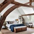 Dormitorio con toque rústico