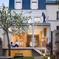 vivienda unifamiliar con jardín posterior