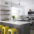 cocina muebles grises