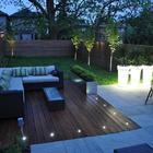 terraza iluminada