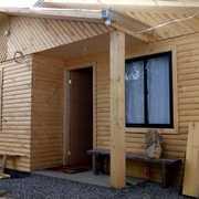 2 casas terminadas en madera cabaña de medio tronco