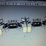 Diseño y remodelacion de oficina centro de distribución rosen Temuco
