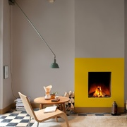 Living con chimenea