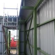 Construcción Cierre perimetral y losa de hormigón armado taller ID HVAC