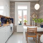 Cocina con papel mural