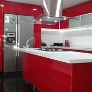 Cocina High Glossy Rojo.