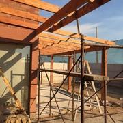 Estructura de Cobertizo de madera