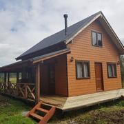 Distribuidores Sherwin williams - Construcción cabaña Rustica 70 metros cuadrados