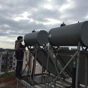 Mantención de 20 colectores solares
