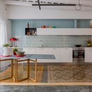 Cocina lineal abierta