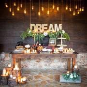 mesa iluminada boda