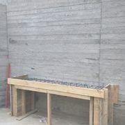 Muro y muebles H.A con instalaciones