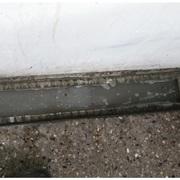 Pileta de piso tapada (antes)