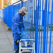 Pintura de reja perimetral de acceso Condominio Atlantico