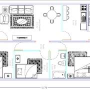 Planta casa 77,4 m2