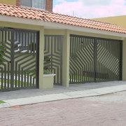 Porton para garage diseño