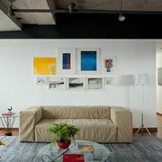 Living con piso de madera