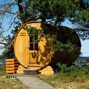 sauna artesanal en exterior