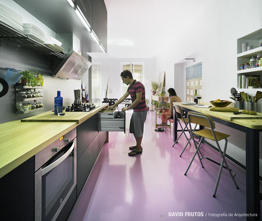 Cocina de diseño remodelada