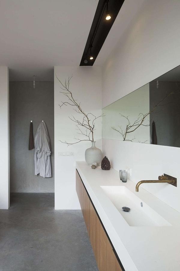 Porcelanato en cubiertas de baño