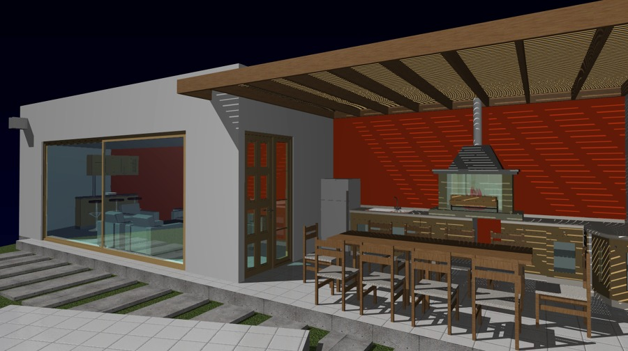Foto ampliacion de casa quincho quincho gimnasio bodega de arquitecto chile proyectos - Casa con gimnasio ...
