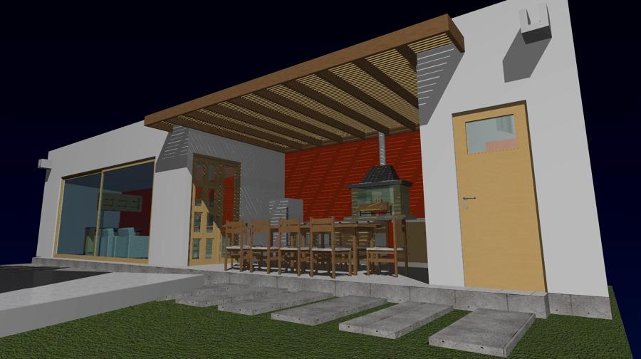 Ampliacion de casa quincho quincho gimnasio bodega for Casa minimalista con quincho